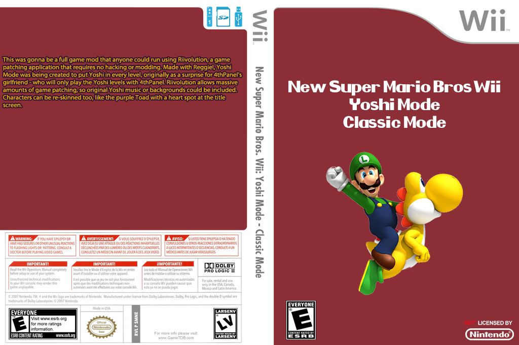 New Super Mario Bros. Wii: Yoshi Mode - Classic Mode Wii coverfullHQ (SMNE35)