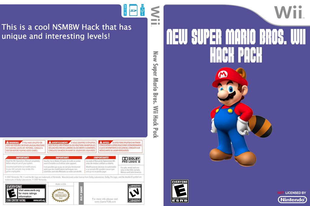 New Super Mario Bros. Wii Hack Pack Wii coverfullHQ (SMNE36)