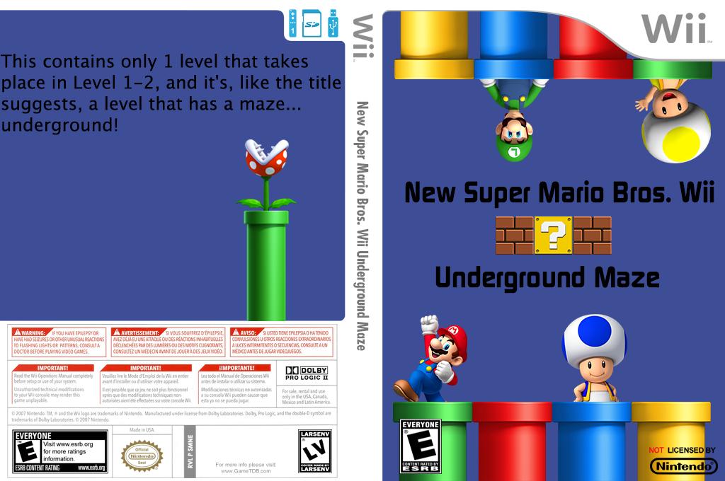 New Super Mario Bros. Wii Underground Maze Wii coverfullHQ (SMNE38)