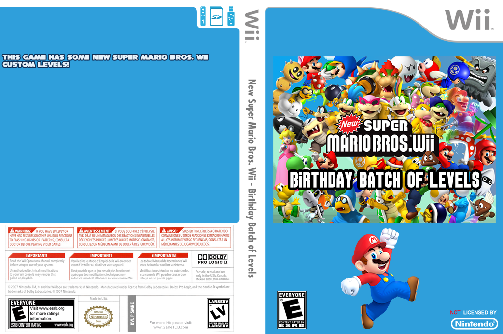 New Super Mario Bros. Wii - Birthday Batch of Levels Wii coverfullHQ (SMNE46)