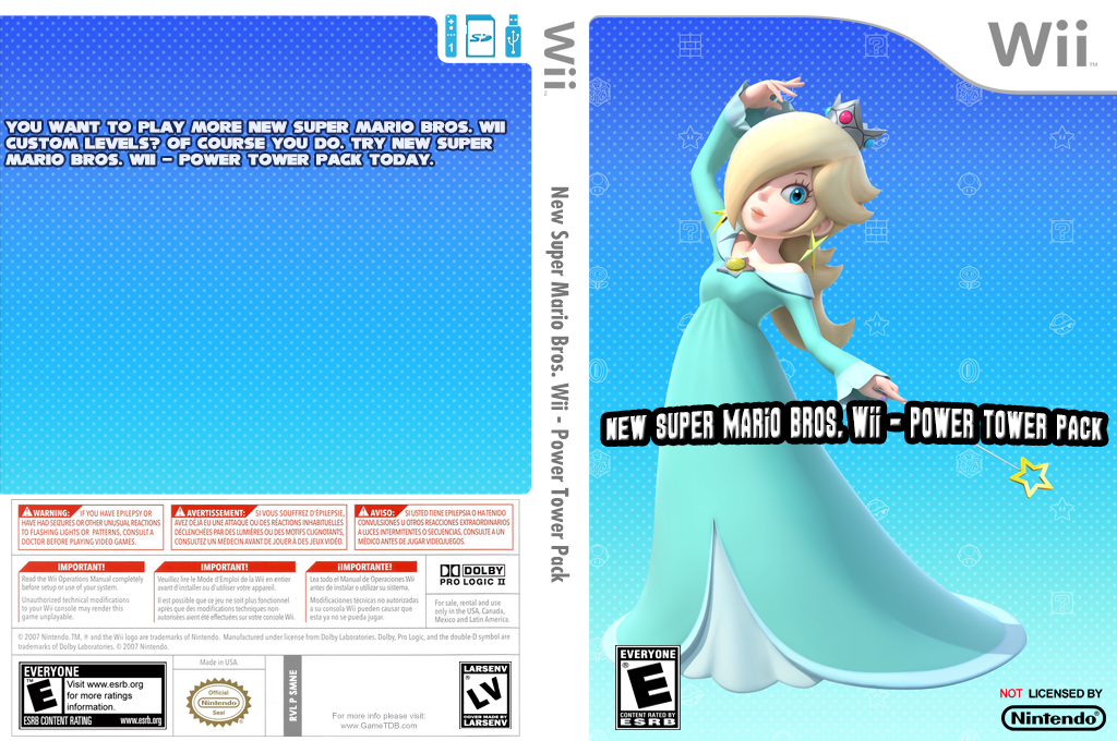 New Super Mario Bros. Wii - Power Tower Pack Wii coverfullHQ (SMNE50)