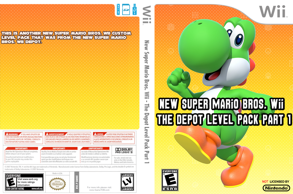 New Super Mario Bros. Wii - The Depot Level Pack Part 1 Wii coverfullHQ (SMNE51)