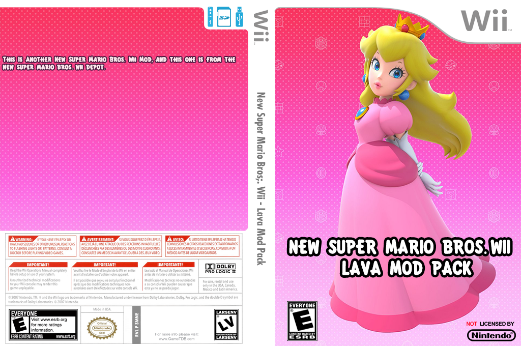 New Super Mario Bros. Wii - Lava Mod Pack Wii coverfullHQ (SMNE55)