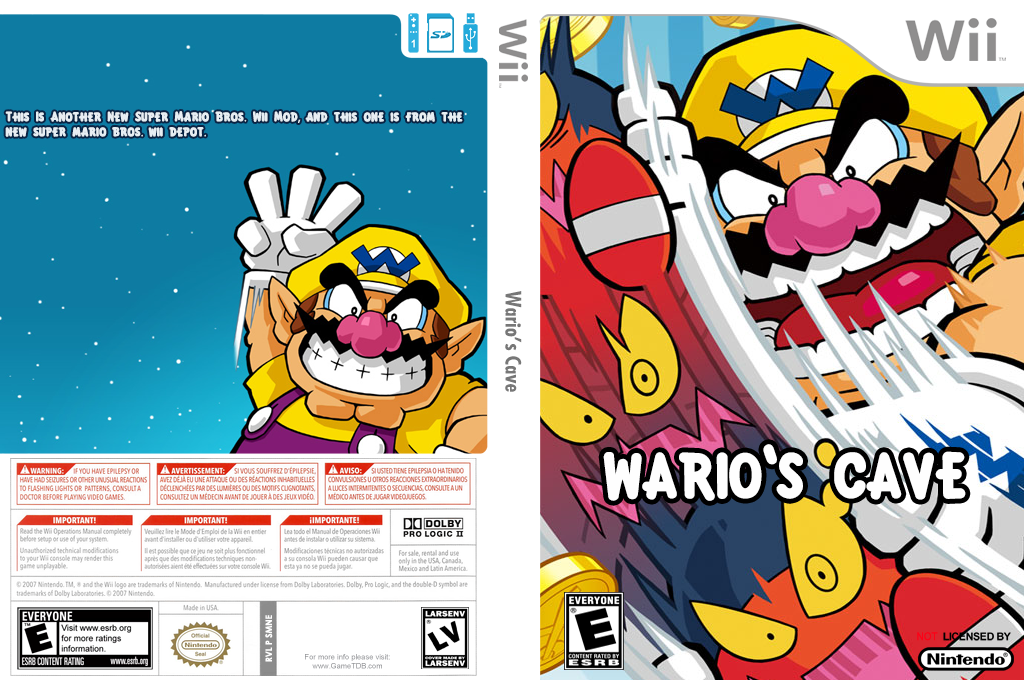 Wario's Cave Wii coverfullHQ (SMNE58)