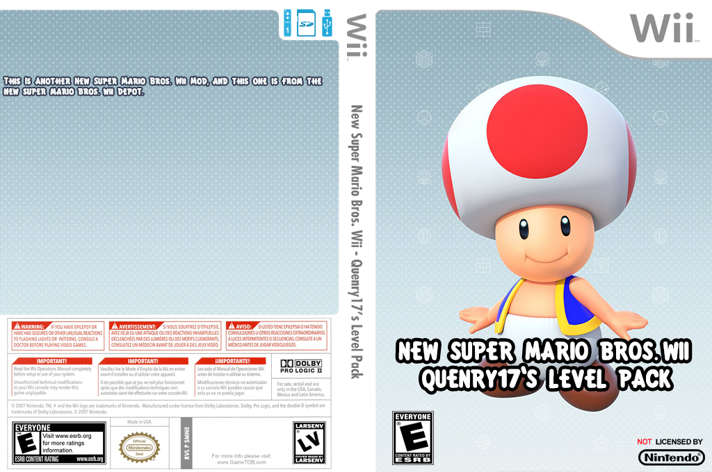New Super Mario Bros. Wii - Quenry17's Level Pack Wii coverfullHQ (SMNE59)