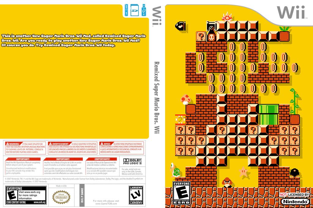Remixed Super Mario Bros. Wii Wii coverfullHQ (SMNE60)