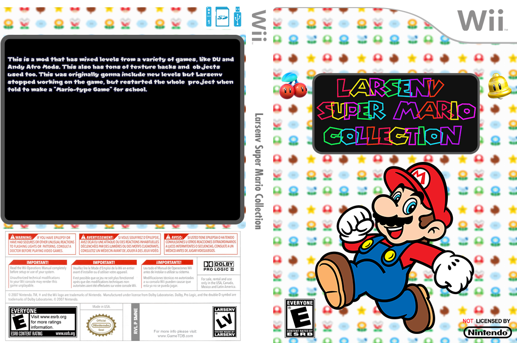 Larsenv Super Mario Collection Wii coverfullHQ (SMNE67)