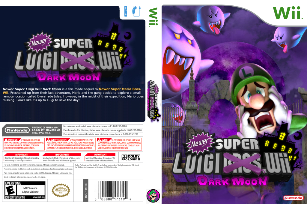 Newer Super Luigi Wii: Dark Moon Wii coverfullHQ (SMNELM)