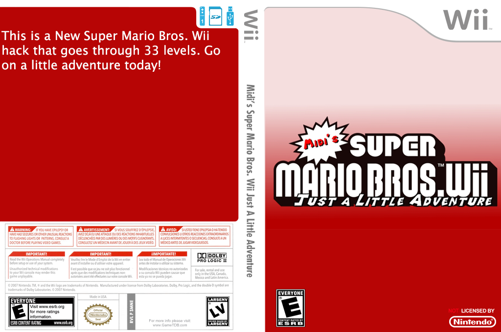 Midi's Super Mario Bros. Wii Just a Little Adventure Wii coverfullHQ (SMNEMI)