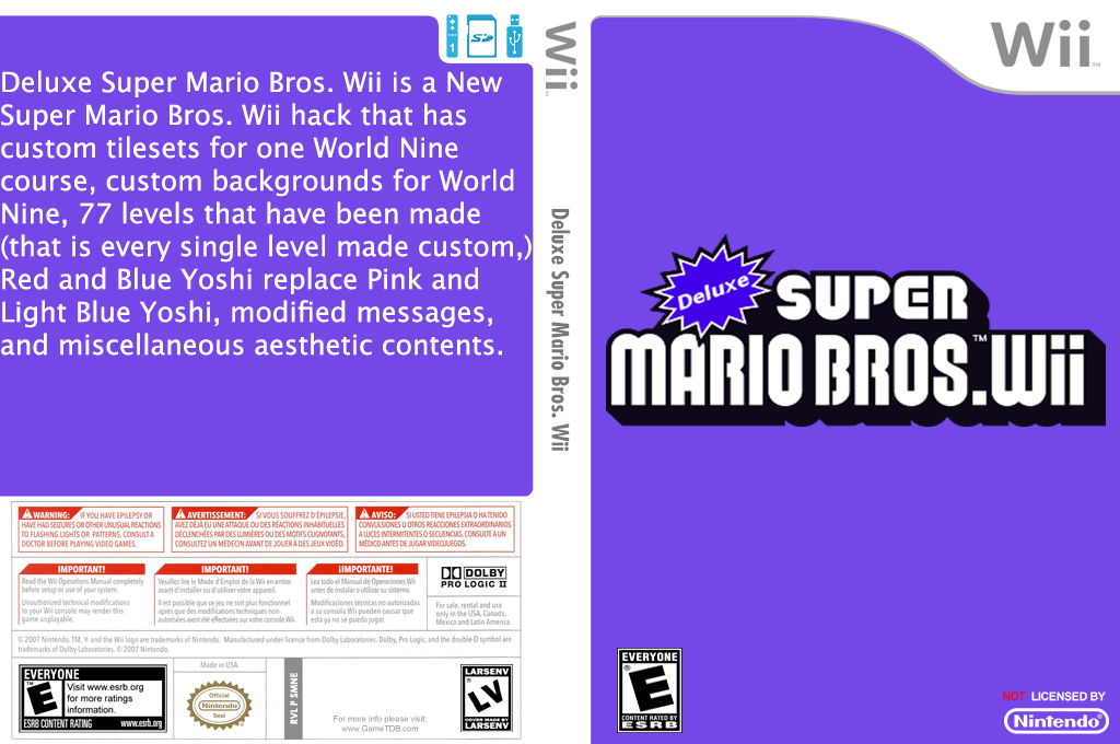 Deluxe Super Mario Bros. Wii Wii coverfullHQ (SMNEXD)