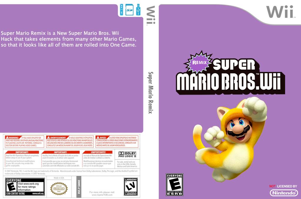 Super Mario Remix Wii coverfullHQ (SMNEXR)