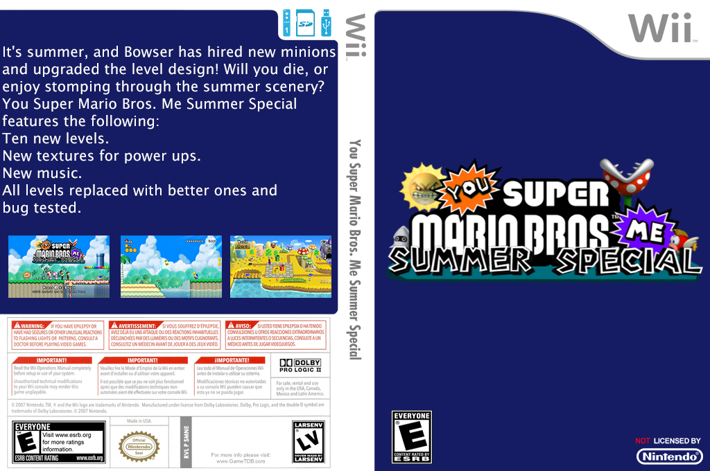 You Super Mario Bros. Me Summer Special Wii coverfullHQ (SMNEYM)