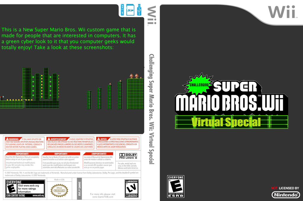 Challenging Super Mario Bros. Wii: Virtual Special Wii coverfullHQ (SMNEZC)
