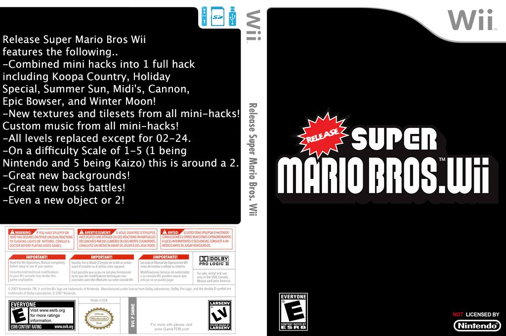 Release Super Mario Bros. Wii Wii coverfullHQ (SMNEZV)