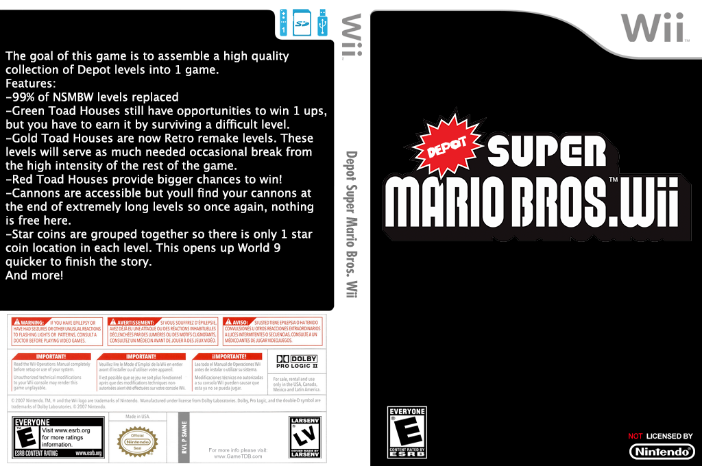 Depot Super Mario Bros. Wii Wii coverfullHQ (SMNEZW)
