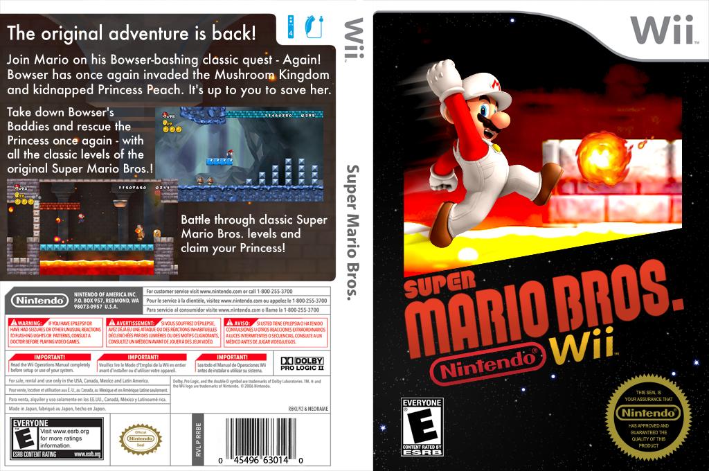 New Super Mario Bros. Wii: Super Mario Bros. 1 Custom Wii coverfullHQ (SMRE01)