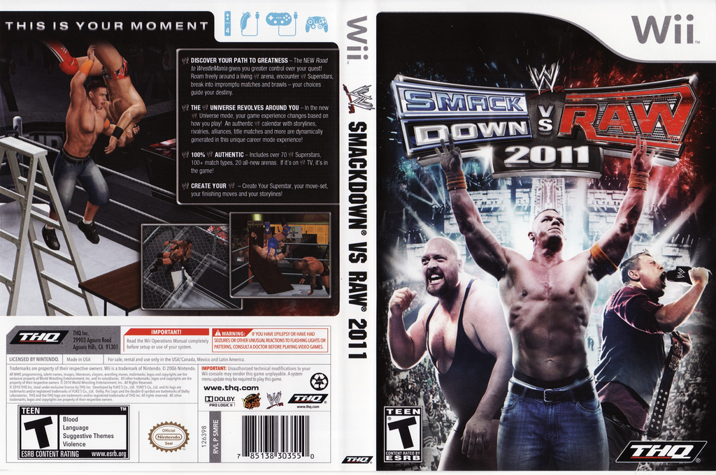 WWE SmackDown vs. Raw 2011 Wii coverfullHQ (SMRE78)