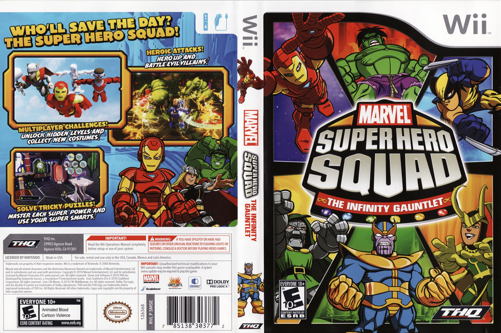 Marvel Super Hero Squad: The Infinity Gauntlet Wii coverfullHQ (SMSE78)