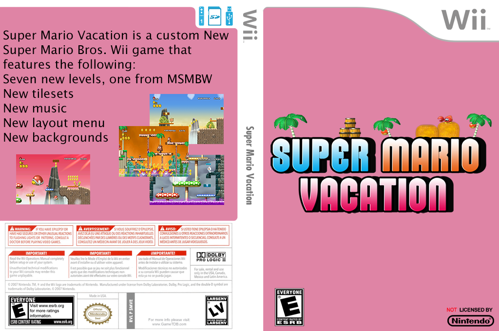 Super Mario Vacation Wii coverfullHQ (SMVE01)