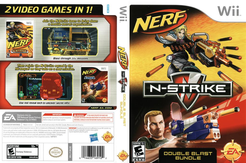 NERF N-Strike Double Blast Bundle Wii coverfullHQ (SN2E69)
