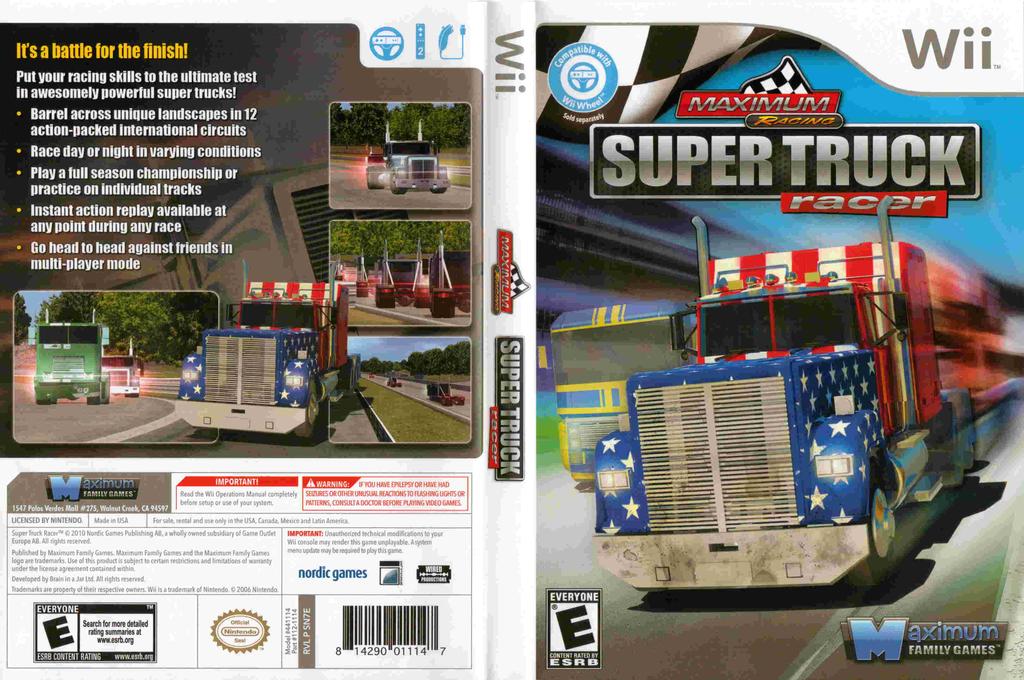 Maximum Racing: Super Truck Racer Wii coverfullHQ (SN7EYG)