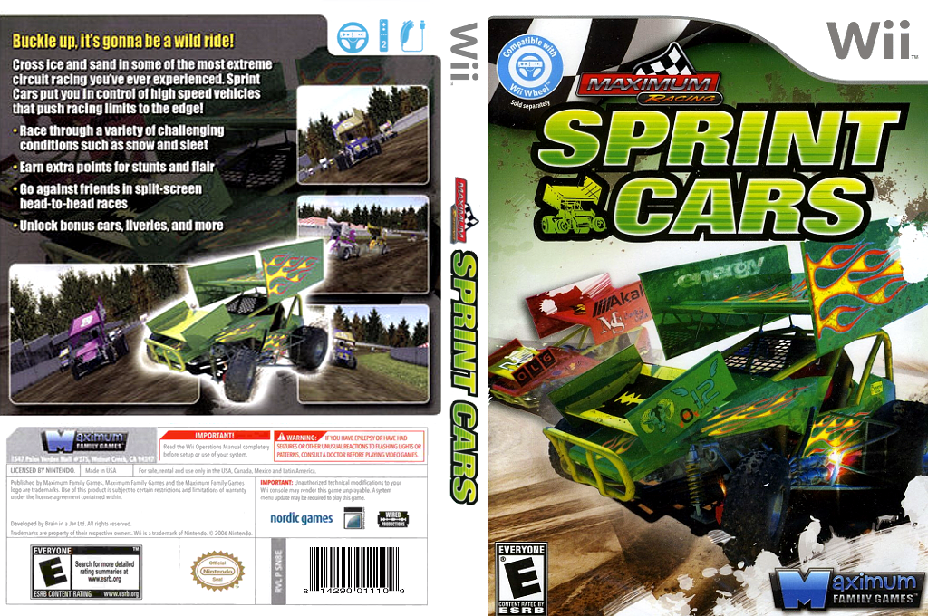 Maximum Racing: Sprint Cars Wii coverfullHQ (SN8EYG)