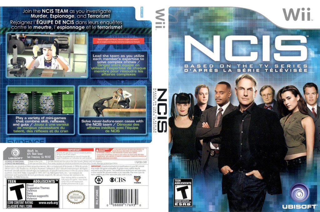 NCIS: The Game Wii coverfullHQ (SNBE41)