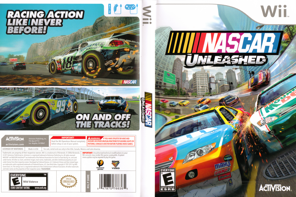 NASCAR Unleashed Wii coverfullHQ (SNRE52)
