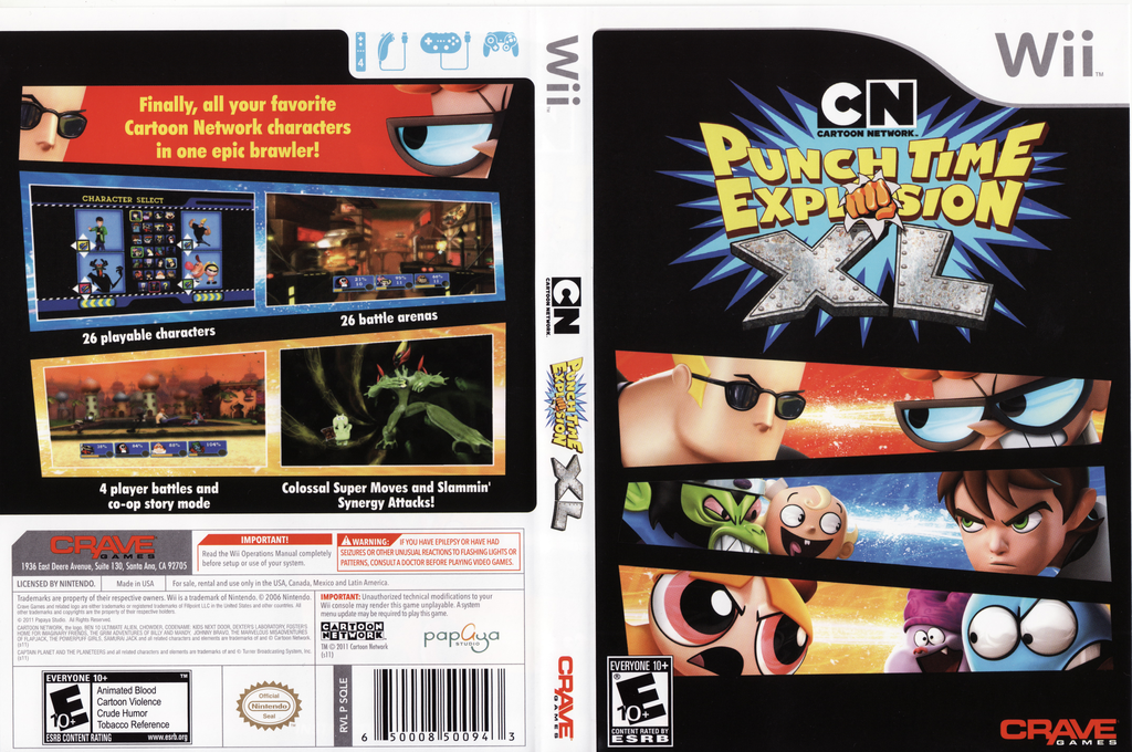 Cartoon Network: Punch Time Explosion XL Wii coverfullHQ (SQLE4Z)