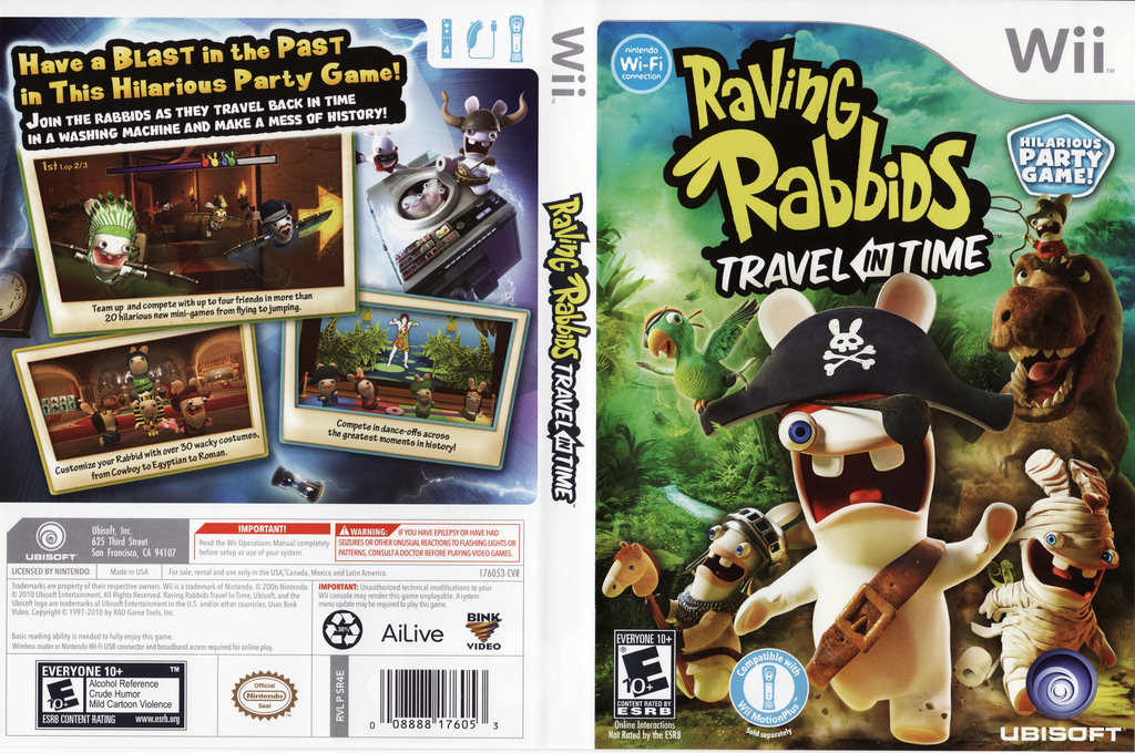 Raving Rabbids: Travel in Time Wii coverfullHQ (SR4E41)