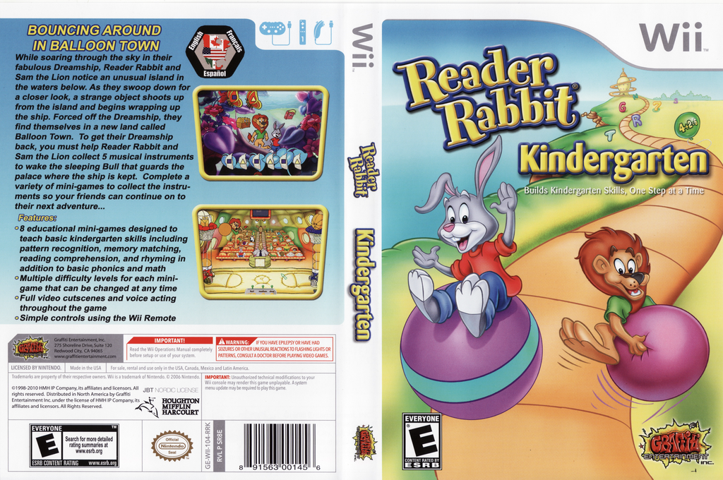 Reader Rabbit Kindergarten Wii coverfullHQ (SR8EHG)