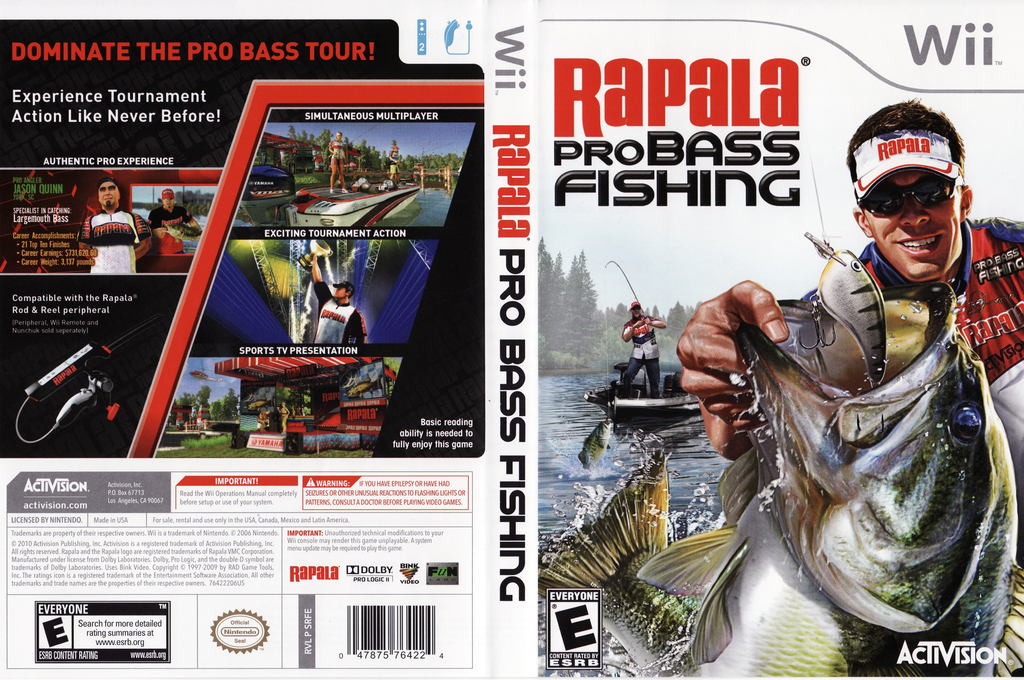 Rapala Pro Bass Fishing Wii coverfullHQ (SRFE52)