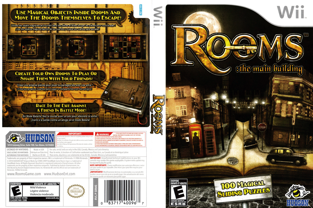 Rooms: The Main Building Wii coverfullHQ (SRME18)