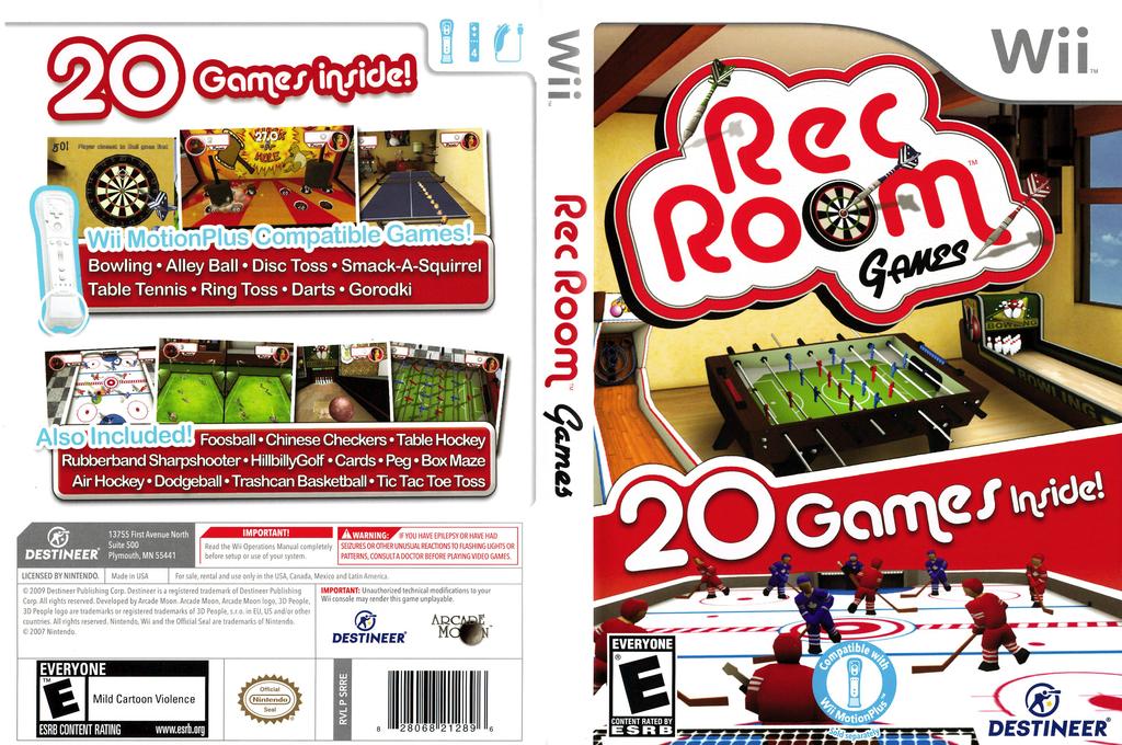 Rec Room Games Wii coverfullHQ (SRRENR)