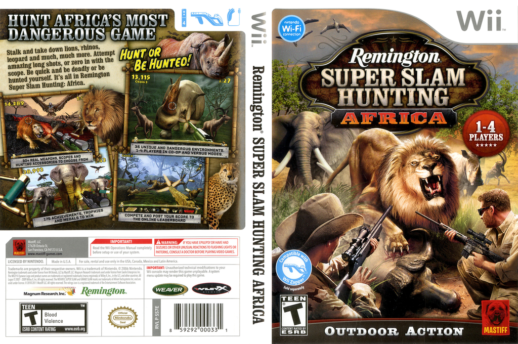 Remington Super Slam Hunting: Africa Wii coverfullHQ (SS7EFP)