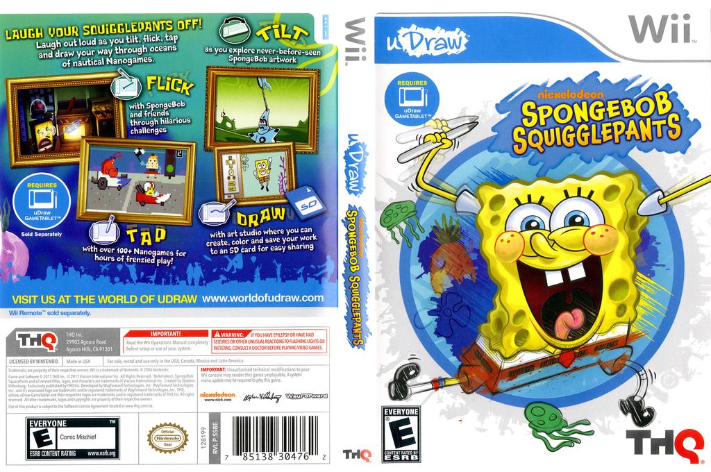 SpongeBob SquigglePants Wii coverfullHQ (SS8E78)