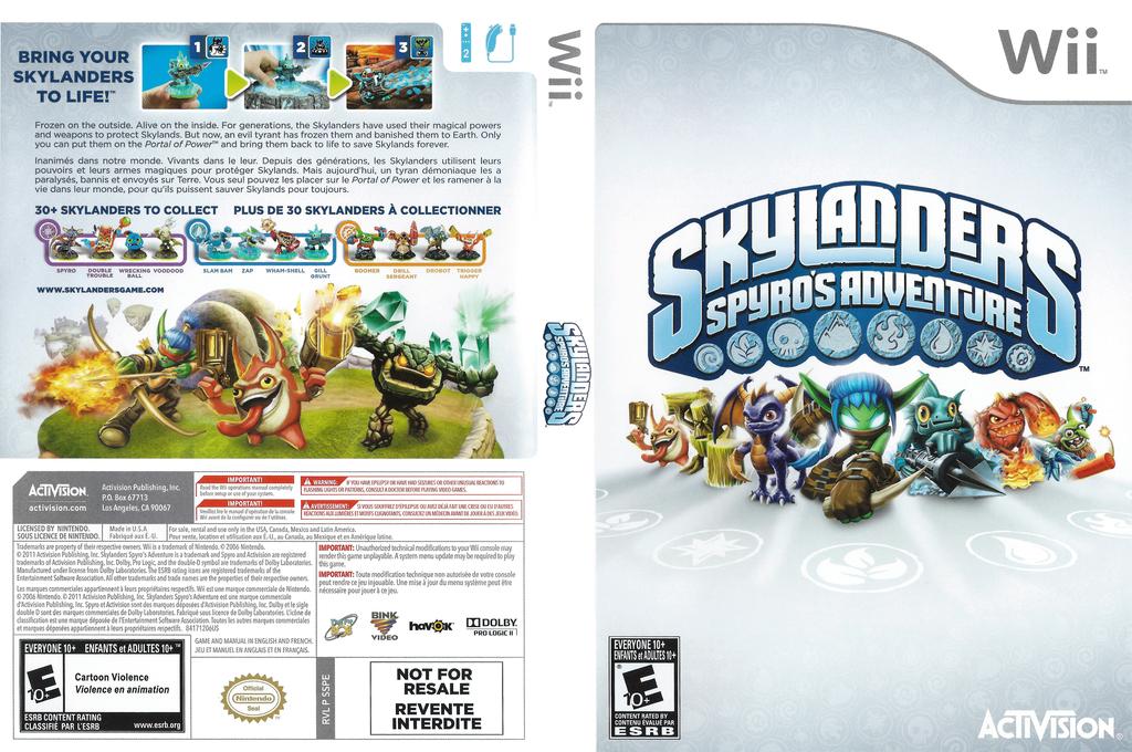 Skylanders: Spyro's Adventure Wii coverfullHQ (SSPE52)