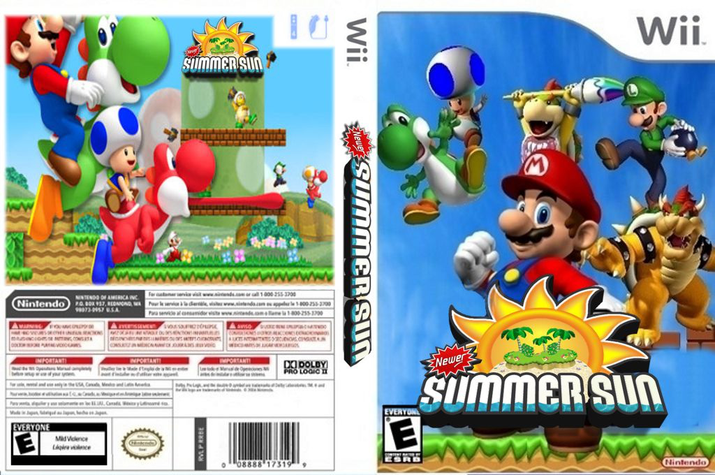 New Super Mario Bros. Wii: Summer Sun Wii coverfullHQ (SSSE01)