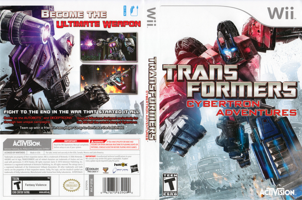 Transformers: Cybertron Adventures Wii coverfullHQ (ST5E52)
