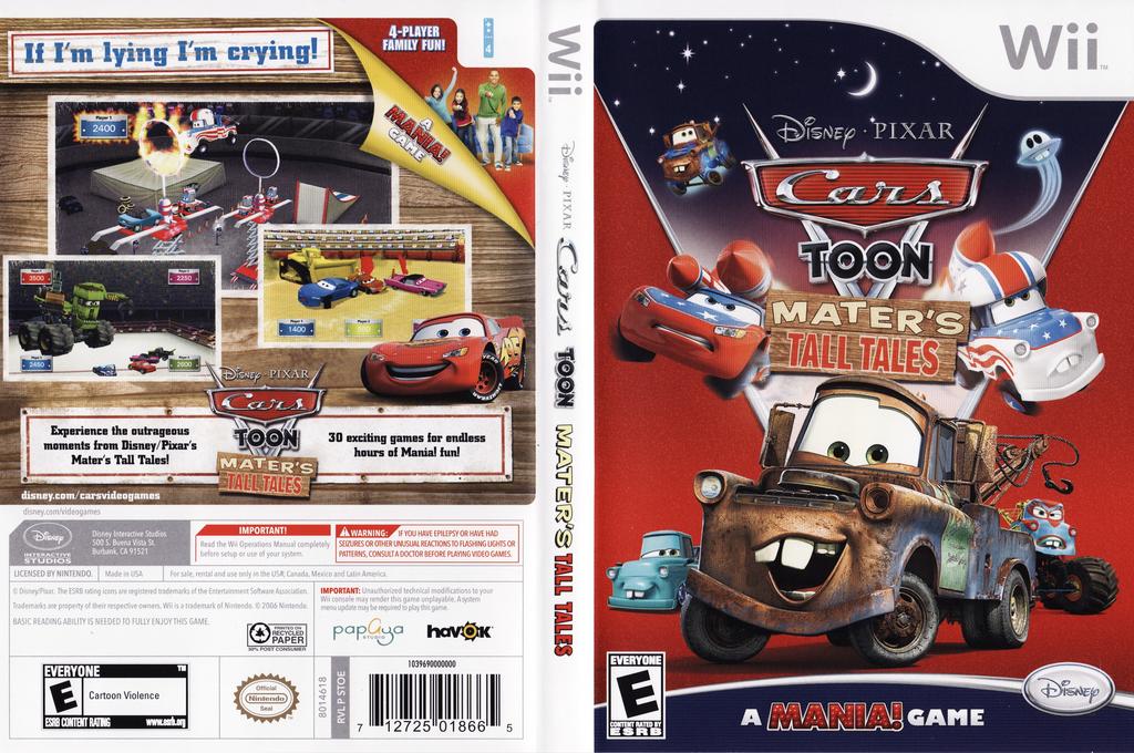 Cars Toon: Mater's Tall Tales Wii coverfullHQ (STOE4Q)