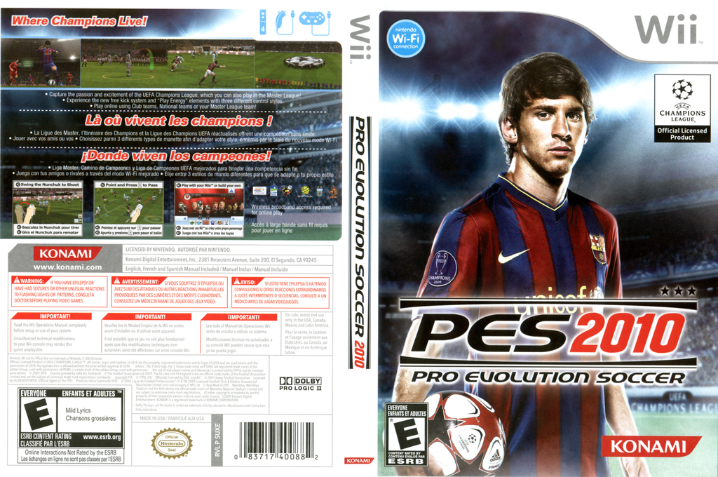 Pro Evolution Soccer 2010 Wii coverfullHQ (SUXEA4)