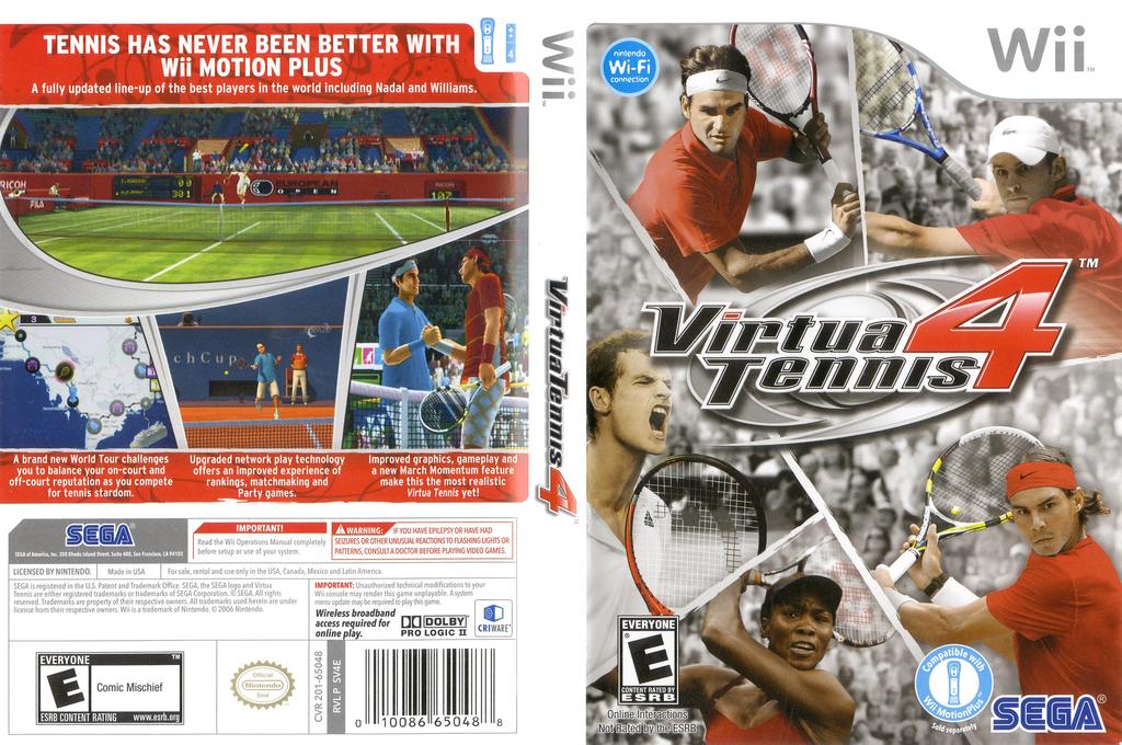 Virtua Tennis 4 Wii coverfullHQ (SV4E8P)
