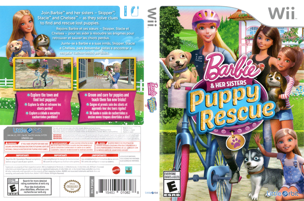 Barbie and Her Sisters: Puppy Rescue Wii coverfullHQ (SVQEVZ)