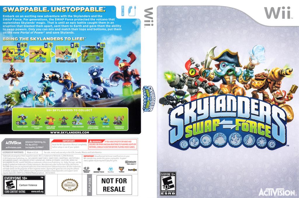 Skylanders: Swap Force Wii coverfullHQ (SVXE52)