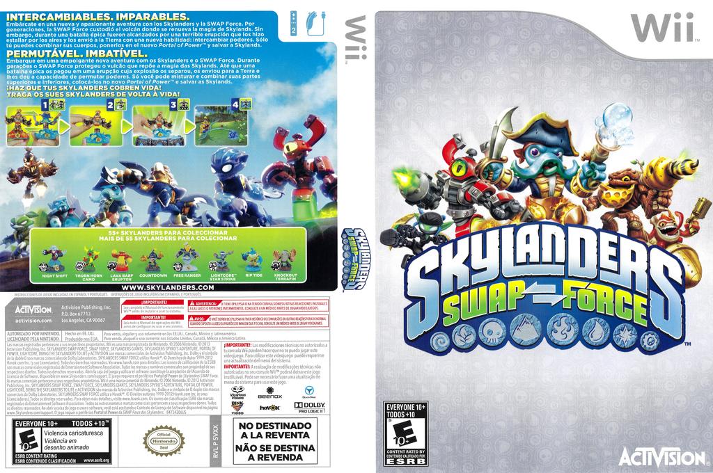 Skylanders: Swap Force Wii coverfullHQ (SVXX52)
