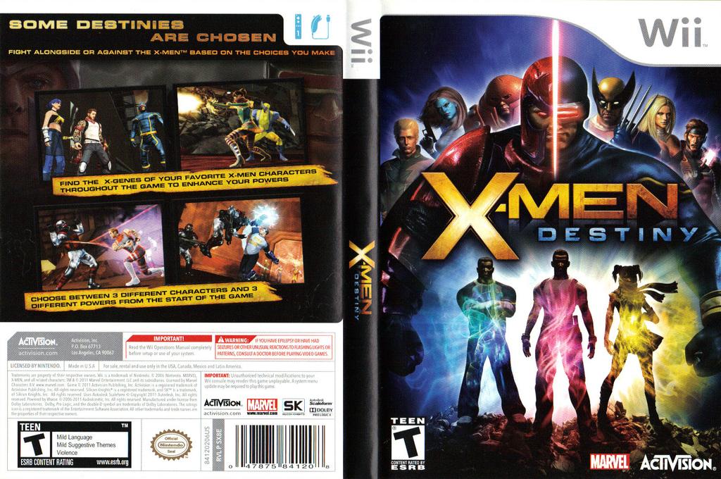 X-Men Destiny Wii coverfullHQ (SX8E52)