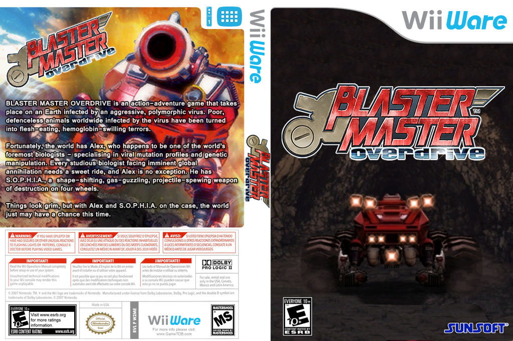Blaster Master: Overdrive Wii coverfullHQ (W2ME)