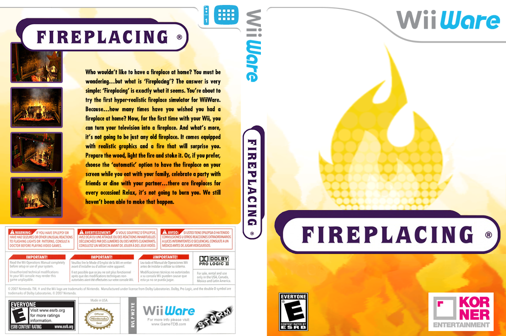 Fireplacing Wii coverfullHQ (W2YE)