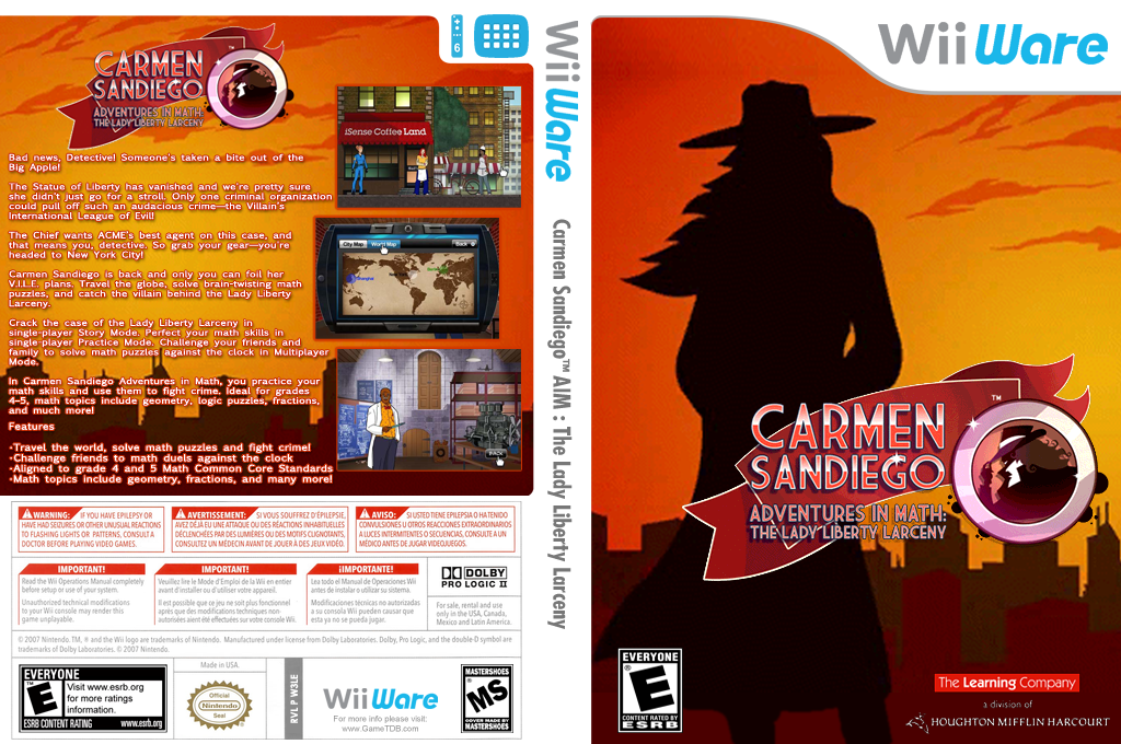 Carmen Sandiego Adventures in Math: The Lady Liberty Larceny Wii coverfullHQ (W3LE)