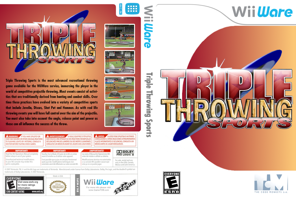 Triple Throwing Sports Wii coverfullHQ (W3PE)